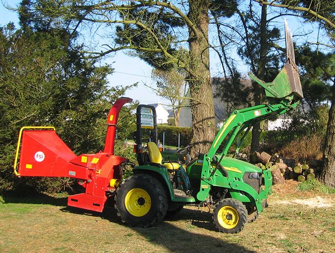 Nouveau matériel: Broyeuse à arbres